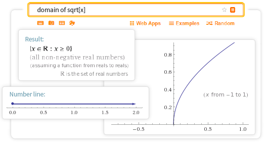 Domain and range calculator find the domain and range of a function more than just an online function properties finder ccuart Choice Image