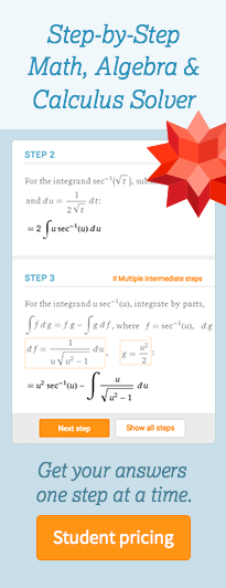 一步一步的数学,代数和计算器求解器。一步一步地回答问题。现在注册。