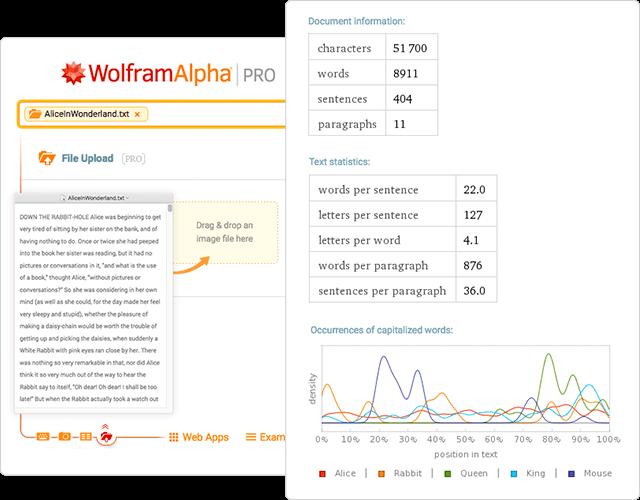 Wolfram|Alpha Examples: File Upload