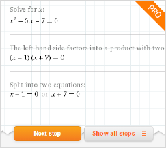 equations and problem solving